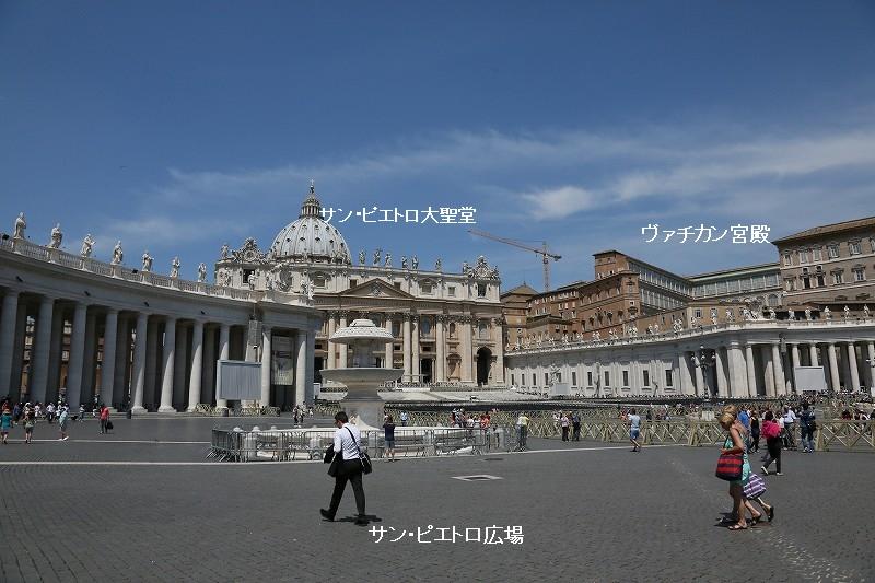 残りの部分に、ヴァチカン宮殿、サンピエトロ大聖堂、システィーナ礼拝堂などの建物やサンピエトロ広場があります。